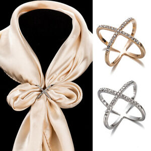 Clip Scarf Brooch Buckle Holder Scarves Women Ring Fashion Jewelry Silk Gift