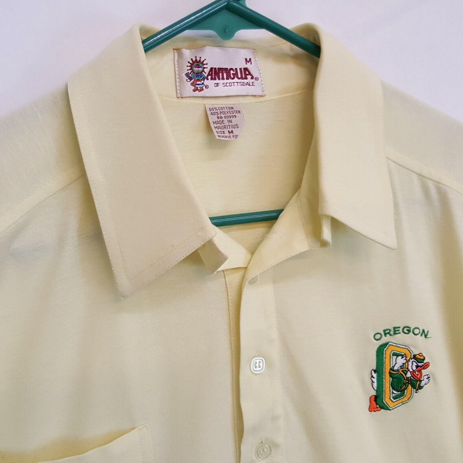 VTG 80s UO Oregon Ducks Antigua Pac 10 Polo Shirt… - image 3