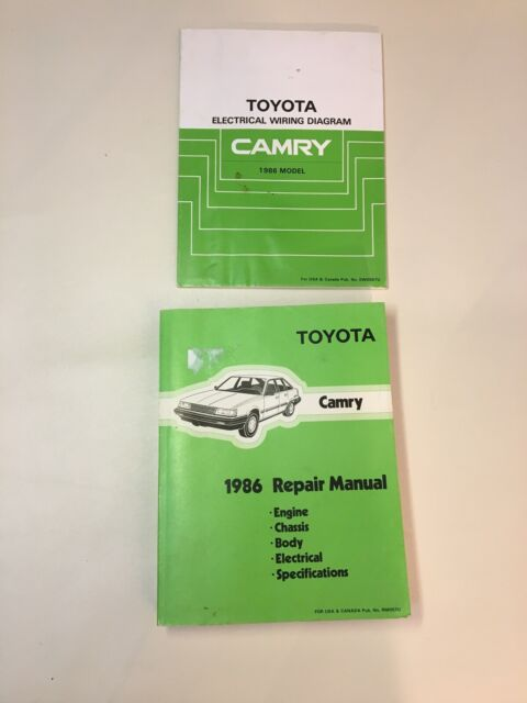 Toyota 1986 Camry Repair Manual And Eletrical Wiring ...