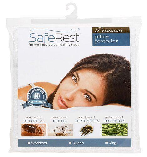 SafeRest Premium Hypoallergenic Bed Bug Proof Waterproof Pillow Protector