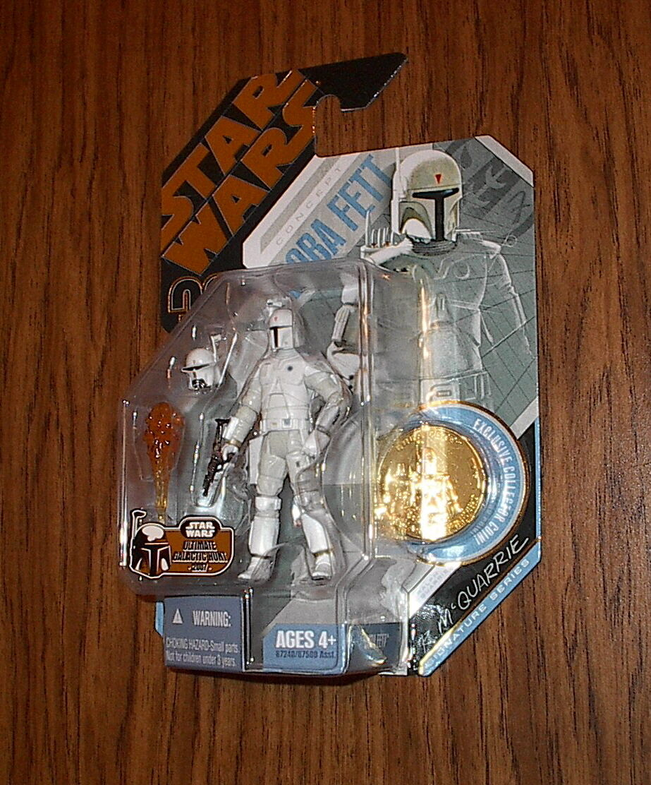 Star Wars BOBA FETT MCQUARRIE CONCEPT SERIES gold coin UGH 30th Anniversary 2007