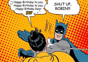 Pop art batman robin spoof slap meme personnalised happy birthday image is loading pop art batman robin spoof slap meme personnalised m4hsunfo