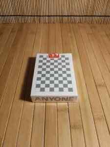 Anyone Worldwide Grey Checkerboard Playing Cards