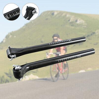 Full Carbon Fiber vélo Tige de selle vélo siège Rod 20 Degré 27.2//30.8//31.6