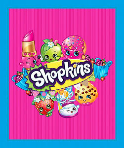 SHOPKINS COLOR ME HAPPY GROCERY 100/% COTTON FABRIC SPRINGS CREATIVE  BY THE YARD