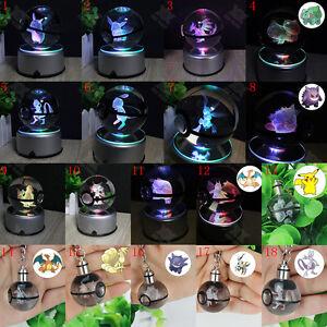 3D-LED-Night-Light-7-colors-Crystal-Ball-Pokemon-Pokeball-Pikachu-Key-Ring-Gift