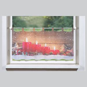 Kerzen weihnachten bistrogardine scheibengardine panneaux home wohnideen schmid ebay - Bistrogardine weihnachten ...