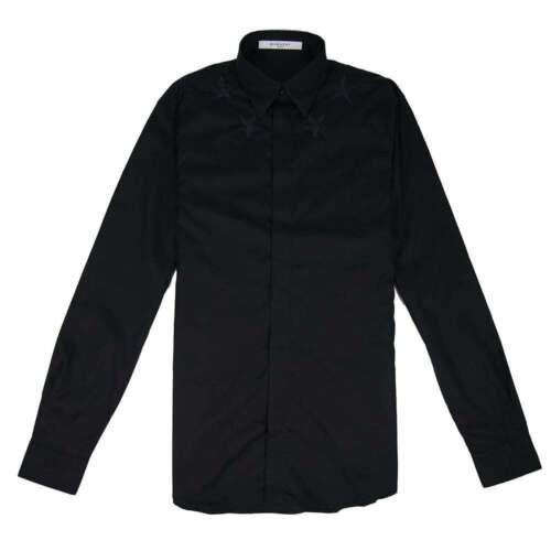 Embroidered Star Black Poplin Givenchy Mens Shirt d5wXqw