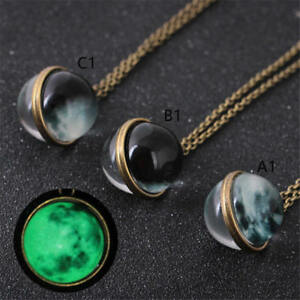 Fluorescent-Full-Rising-Moon-Pendant-Necklace-Glow-In-The-Dark-Luminous-Chain