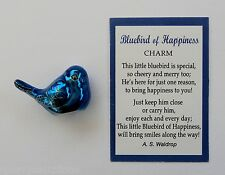 i BLUEBIRD OF HAPPINESS POCKET TOKEN CHARM mini figurine blue bird smile ganz