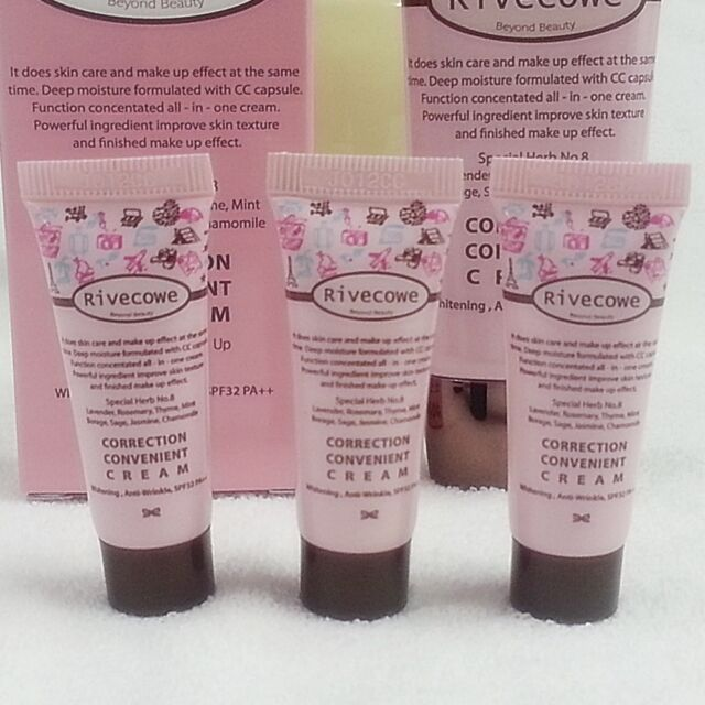 3P CC Cream New Function Skin Care + Make UP Korean Cosmetics, Upgrade BB Cream.