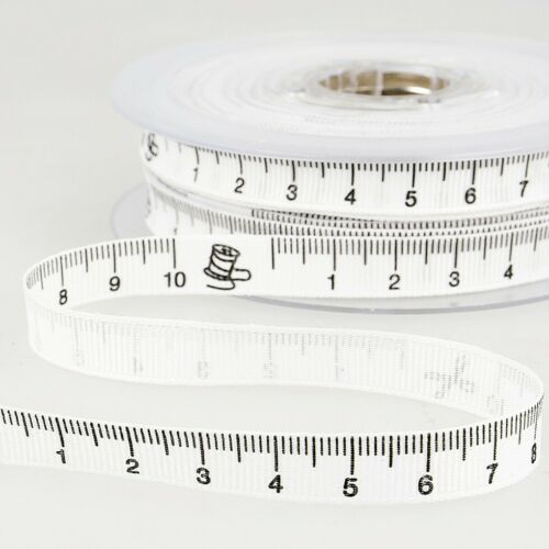 White Stephanoise Tape Measure Ribbon