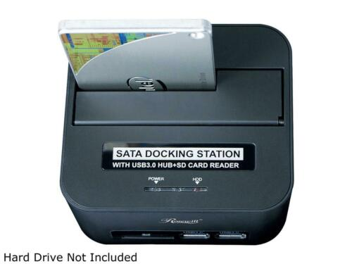 """2.5/"""" /& 3.5/"""" SATA Hard Drive Docking Station USB 3.0 C Rosewill RX303-PU3-35B"""