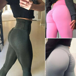 d4b8878c03 Womens Butt Lift Yoga Pants Sexy Hip Push Up Leggings High Waist ...