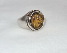 Silpada Sterling Silver Roman Brass Coin Ring Size 7 R1630 Retired