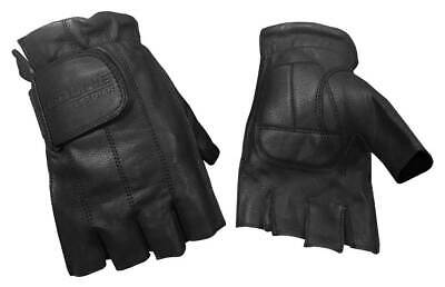 Black G-055PR Redline Men/'s Gel Padded Full-Finger Motorcycle Leather Gloves