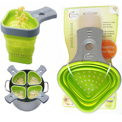 Healthy Portion Control Silicone Pasta Basket With Sieve Strainer Boiling Kit