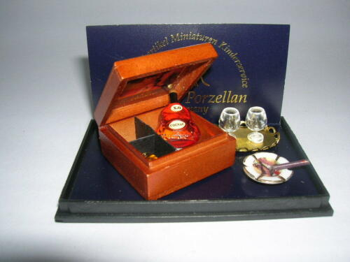 Reutter porzellan xo cognacset processeur en boîte xo COGNAC set poupée 1:12 type 1.608//6