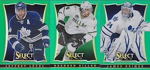 13-14-Select-Joffrey-Lupul-25-GREEN-Parallel-Maple-Leafs-2013-Panini