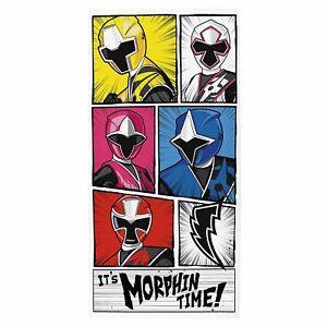 Power-Rangers-Morphin-Temps-Serviette-Enfants-Bain-Plage