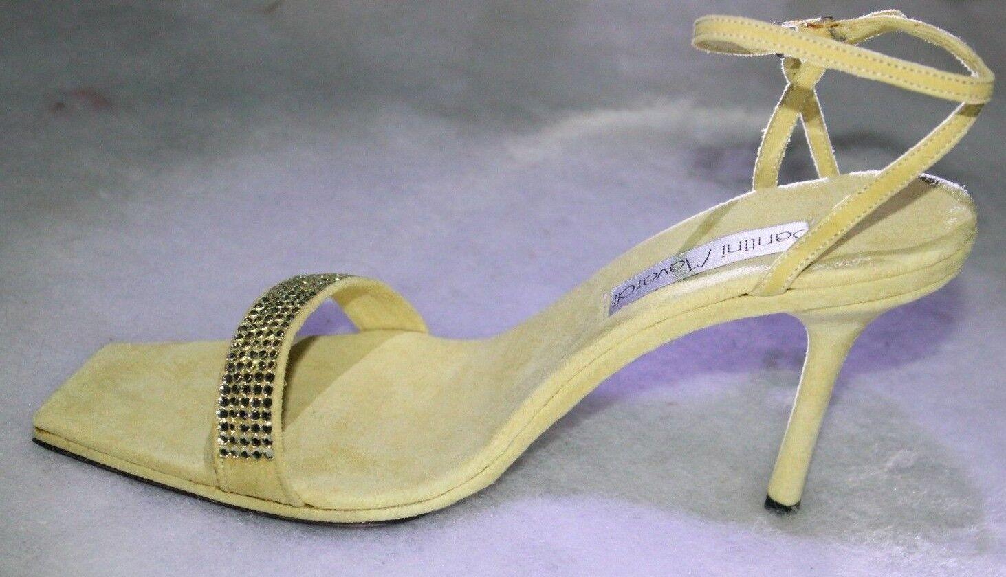 connotazione di lusso low-key Santini Mavardi Carina 5 giallo    Suede jonquil sandals pumps 39 9 7 heels scarpe  qualità ufficiale