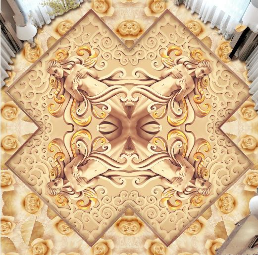 3D Athena Goddess 77 Floor WallPaper Murals Wall Print Decal AJ WALLPAPER US