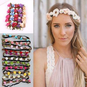 New Girls Boho Stil Blumen Party Hochzeit Haare Kranze Haarreifen Ebay