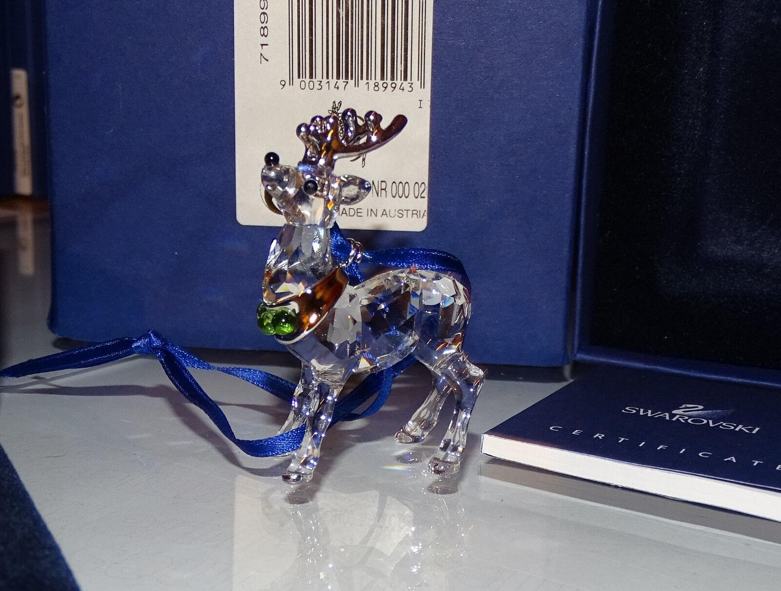 Swarovski 2005 - 2007 ornament reno rodio Reindeer 718994 OVP