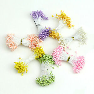 Artificial flower stamen double heads pearlized cards for Flower heads for crafts