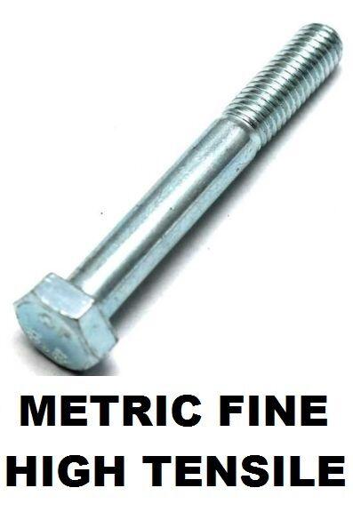 Qty 2 Metric Fine Hex Bolt M10 (10mm) x 1.25 Pitch x 110mm Zinc Class 8.8 Screw