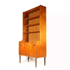 Retro-Vintage-Danish-Teak-Tall-Wall-System-Unit-Bookcase-Book-Cabinet-60s-70s