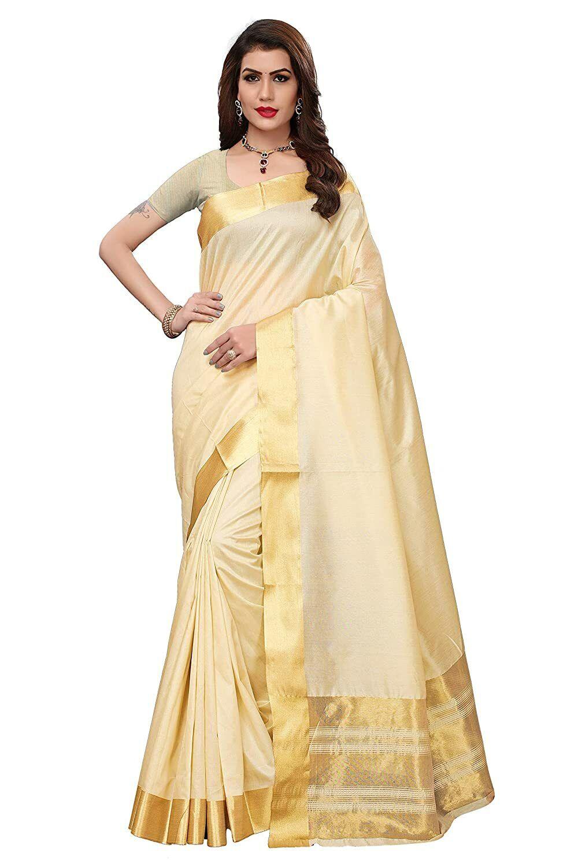 Ivory Art Silk Bollywood Saree Party Wear Indian Pakistani Wedding Designer Sari