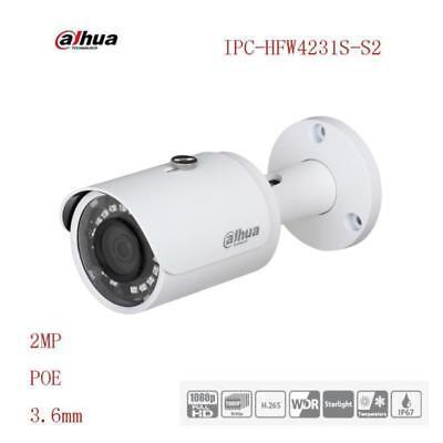 Dahua DH-HFW4200S IPC-HFW4200SN IR 30M 6mm Fixed Lens 1//3 2Mpx Full HD Small IR-Bullet