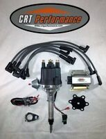 Small Cap Chevy Inline 6 Cylinder 235 Black Hei Distributor, 50k Coil + Wires