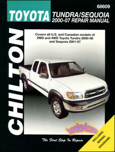 toyota tundra sequoia shop manual service repair book chilton haynes rh ebay com 2000 toyota tundra service manual pdf 2000 ski doo tundra r service manual
