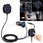 Wireless Bluetooth 4.0 Music Receiver 3.5mm Adapter Handsfree Car AUX Speaker