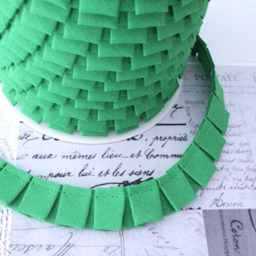 Box pleat trim bordure-vert gazon-tissu de coton