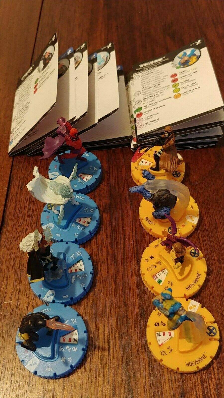 Heroclix X-Men Regenesis Storyline OP Complete 8 Figure Common Set 001-008