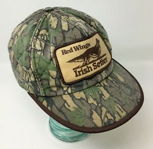 a4842b9de84 Vintage Red Wing Irish Setter Camo Hat Ear Flaps Thinsulate ...