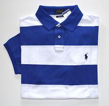 NWT Men's Ralph Lauren Short-Sleeve Polo Shirt, Royal Blue, White XL, X-Large