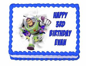 Excellent Buzz Lightyear Toy Story Edible Cake Image Frosting Sheet Party Funny Birthday Cards Online Inifofree Goldxyz