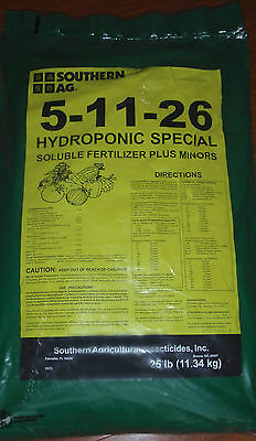 Southern Ag 5-11-26 Hydroponic Special 25 lb. Bag Soluble Fertilizer Plus Minors