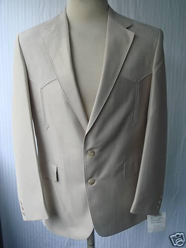48L New  Herren Western Wear Sport Coat  Bone Swedish Warp