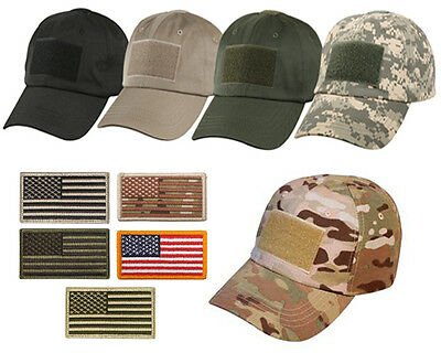 Special Forces Operator Tactical American US Flag Patch Baseball Hat Cap