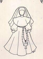 "18""  Period DOLL Nun Costume DRESS PATTERN Victorian German French"