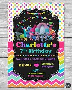Trolls party supplies invitations invite personalised birthday boys image is loading trolls party supplies invitations invite personalised birthday boys stopboris Gallery
