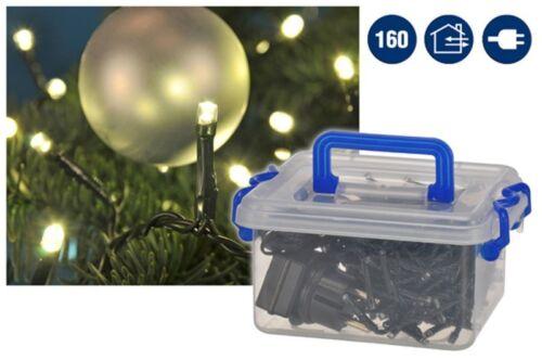 160 cadena luces LED cadena luces navideñas blanco cálido interior exterior