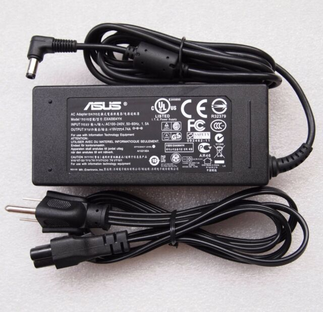 Original ASUS 19V 4.74A 90W Laptop Charger AC Adapter Power Cord for A42JY ...