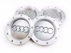 4X-146mm-Audi-Hub-Cap-Wheel-Cover-Hub-Caps-Grey-8D0601165K