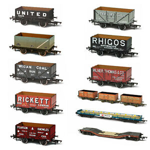 Oxford-Rail-Painted-Wagons-Plastic-Model-OO-Gauge-1-76-Scale-Railway-Track-BNIB